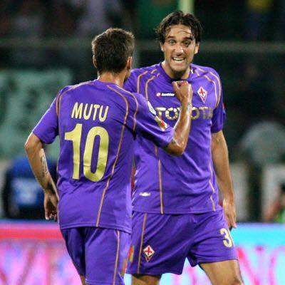 Adrian Mutu e Luca Toni