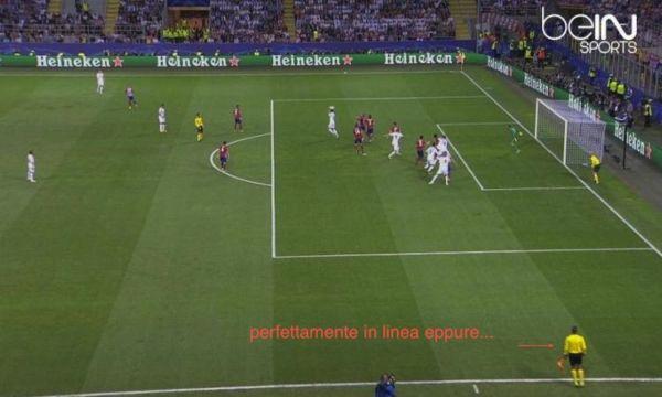 goal ramos fuorigioco finale real atletico milano