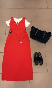 outfit abito rosso - Gate21