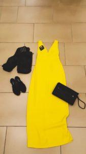 Outfit abito giallo Gate21