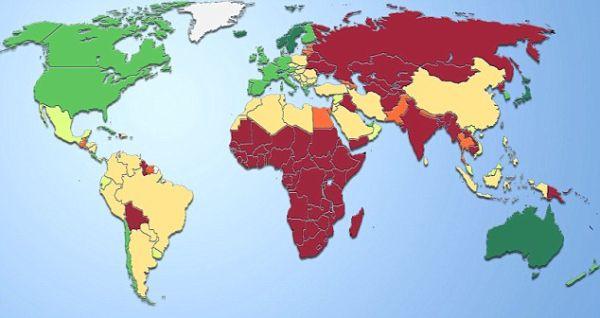 nazioni più depresse