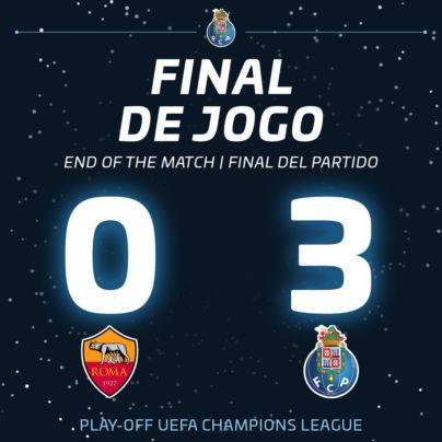 Roma 0 Porto 3 Champions League