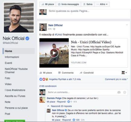 Nek risponde ad un fan che lo ha criticato - Nek video Unici