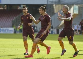 Dzeko e Nainggolan in Napoli - Roma 1 a 3