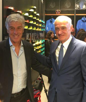 Gasperini con il presidente dell'Atalanta Percassi