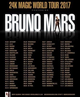 Bruno Mars - The 24K Magic World Tour