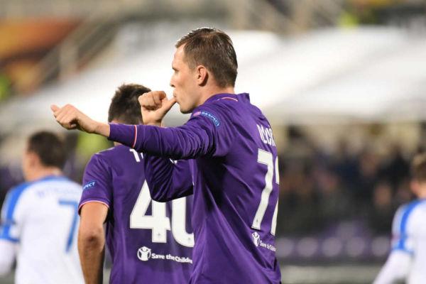 Josip Ilicic in Fiorentina Slovan Liberec
