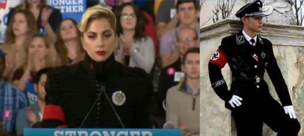 Lady Gaga vestita da nazista