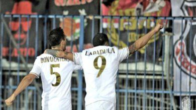 Lapadula e Bonaventura esultano - A C Milan