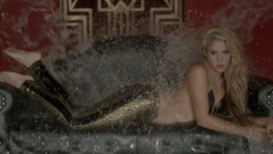 Shakira nel video per Chantaje