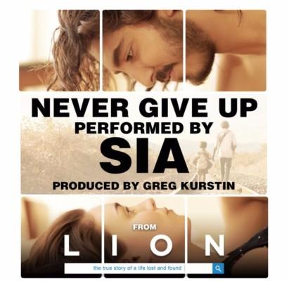 Never Give Up singolo di Sia per il film Lion