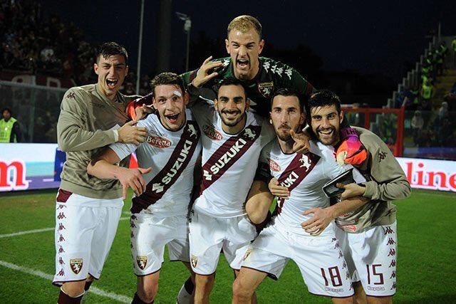 giocatori del Torino nel post Crotone Torino del 2016