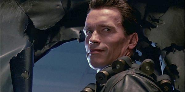Arnold Schwarzenegger nel film Terminator