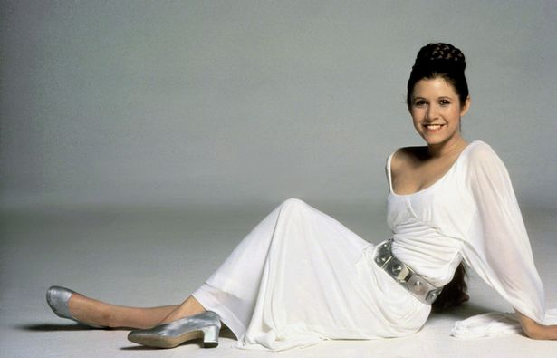 Carrie Fisher nel ruolo di Principessa Leia in Star Wars.