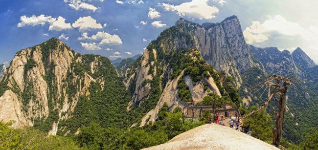 Monte Hua, una bellissima attrazione turistica in Cina