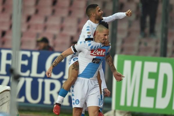 Insigne ed Hamsik in Napoli Inter 3 a 0 del 2 dicembre 2016