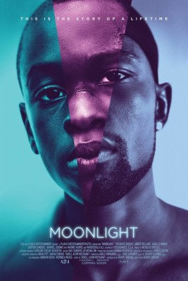 La locandina del film Moonlight - migliori film del 2016 - favoriti Oscar 2017