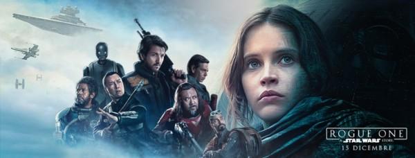 Un poster del film Rogue One: A Star Wars Story.