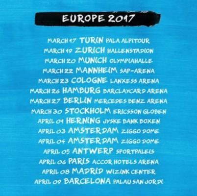 Ed Sheeran a Torino il 17 marzo 2017.