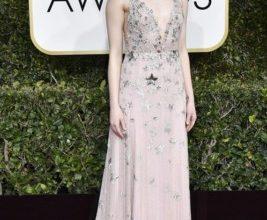 Emma Stone ai red carpet dei Golden Globe 2017
