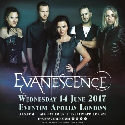 Evanescence concerto Regno Unito 14 giugno 2017