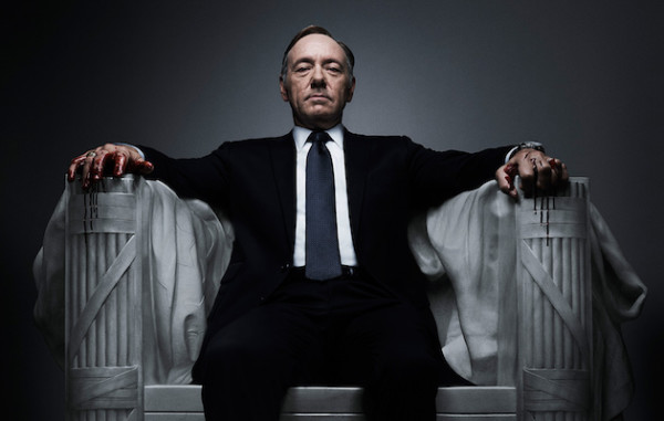 Kevin Spacey in un poster di House Of Cards.