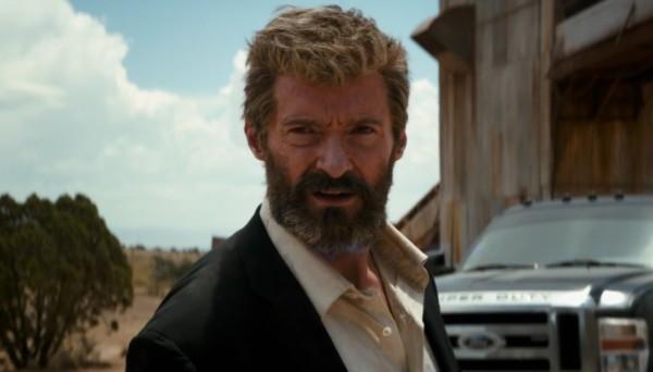 Hugh Jackman nei panni di Wolverine in Logan.