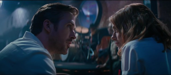 Ryan Gosling ed Emma Stone in La La Land - La La Land recensione musical