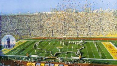 Immagine di una partita durante il Super Bowl.
