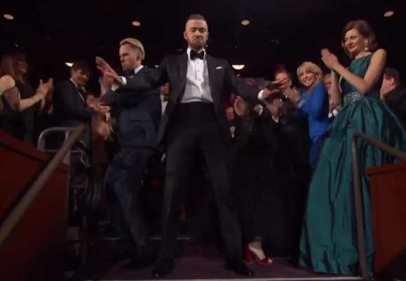 Justin Timberlake Can't Stop The Feeling Oscar 2017