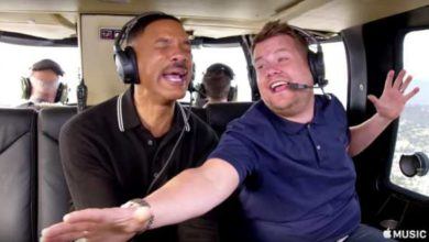 Willy Smith e James Corden nel Carpool Karaoke 2017.