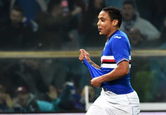 Luis Muriel Sampdoria derby della lanterna 2017