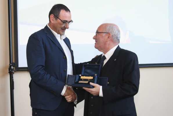 Maurizio Sarri panchina d'oro 2017.
