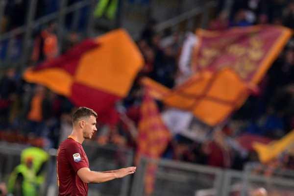 Foto in Roma Empoli 2 0 - Dzeko record 33 goal stagionali