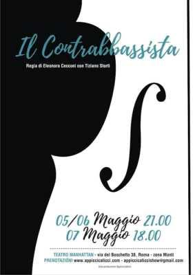 """La locandina di """"Il Contrabbassista"""", lo spettacolo teatrale di scena a Roma."""