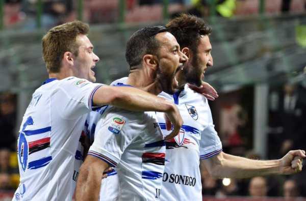 Inter Sampdoria 1 2 2017 Quagliarella