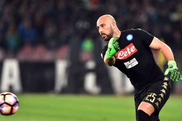 Pepe Reina Napoli Coppa Italia 2017