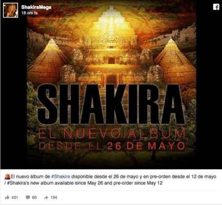 quando uscirà l'11 album di Shakira