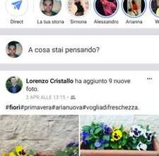 Facebook Stories schermata.