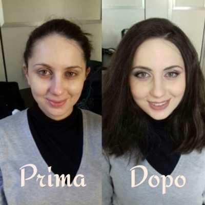 make up artist Milano - Foto prima e dopo applicazione make up.