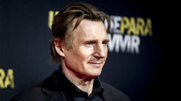 The silent man: Liam Neeson