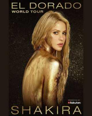 Shakira a Milano il 3 dicembre 2017 per l'El dorado World Tour