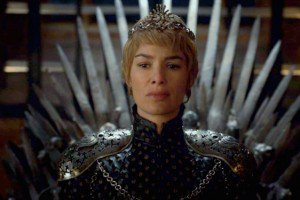 Immagine di Cersei Lannister sul Trono di Spade