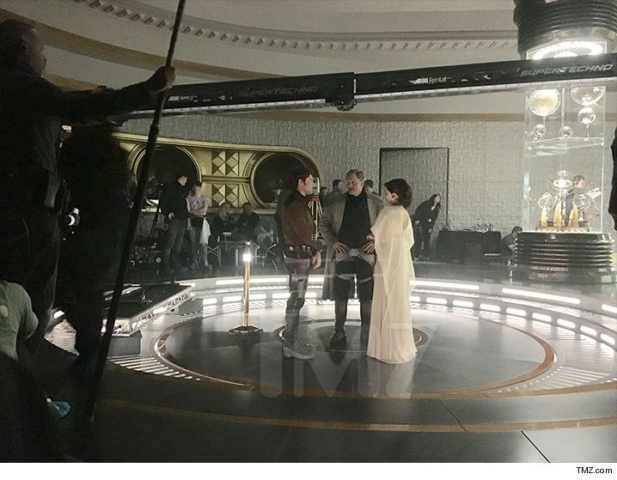 Han Solo Star Wars foto dal set