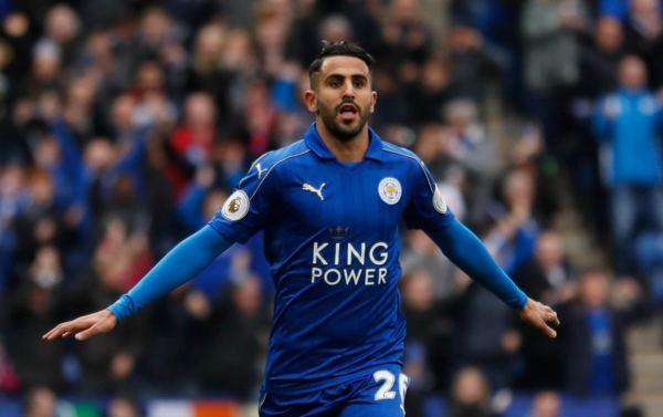 Mahrez con la maglia del Leicester