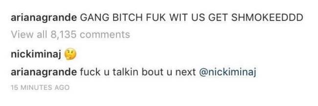 Instagram Ariana Grande hackerato
