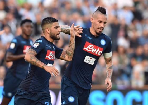 Insigne esulta dopo il goal in Spal-Napoli del 23 settembre. Credits Napoli.