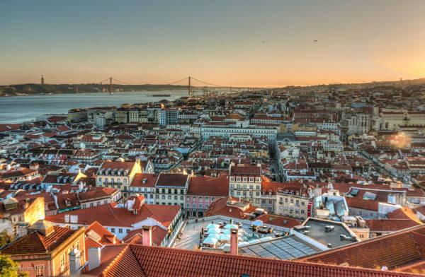 Una vista della città di Lisbona