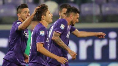 Chiesa esulta dopo la sua rete in Fiorentina-Bologna: 2-1 del 16 settembre. Credits Fiorentina.