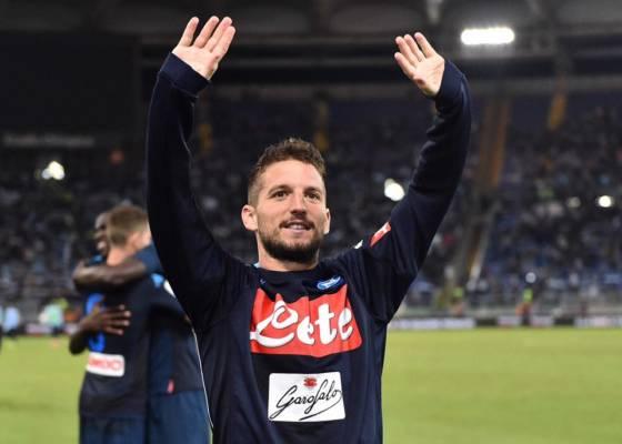 Mertens esulta dopo un goal. Credits Napoli. Settembre 2017 Spal Napoli Prob Formazioni